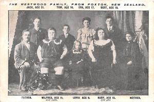 Westwood Family from Foxton New Zealand Unused