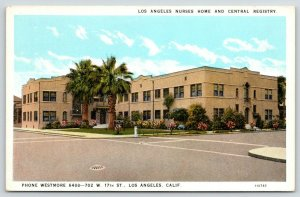 Los Angeles California~Nurses Home & Central Registry~702 W 17th Street~1920s