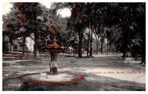 New York  Oneida , Fountain on Main street