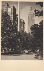 NEW YORK CITY , 1930s ; Empire State Bldg from Madison Square