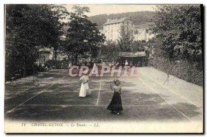 Postcard Old Tennis Chatelguyon