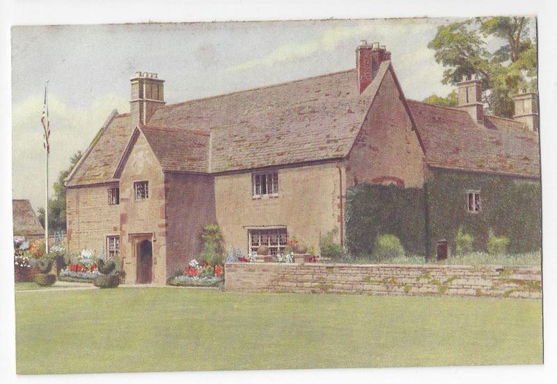 UK England Sulgrave Manor Vintage Postcard View from Lawn George Washington