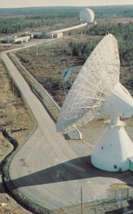 MILL VILLAGE, Nova Scotia, Canada, PU-1988; Mill Village I & II Earth Stations