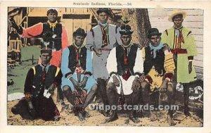 Seminole Indians, Florida USA Writing on back