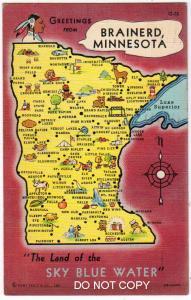 Map, Brained Minn