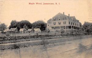 Jamestown Rhode Island Maple Wood Vintage Postcard JA4741954