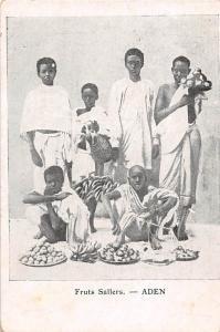 Yemen Aden Fruits Sellers Market Commerce, Native Boys
