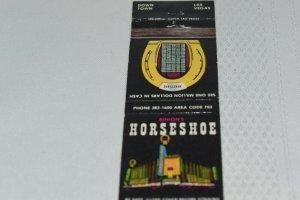 Horseshoe Hotel and Casino Downtown Las Vegas Nevada 20 Strike Matchbook Cover