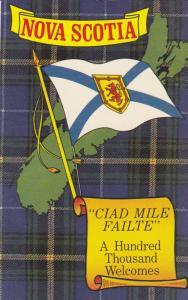 NOVA SCOTIA, Canada, 40-60s; Nova Scotia Flag, Nova Scotian Tartan