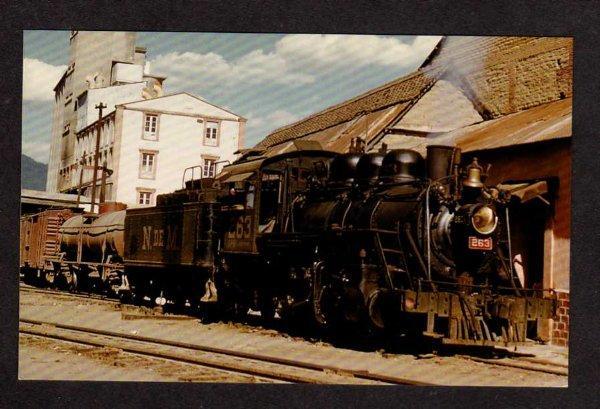 N De M Mexico Railroad Train Locomotive No 263 Postcard Mexican Narrow Gauge RR