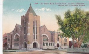 SAN JOSE, California; St. Paul's M. E. Church South, Second and San Carlos St...