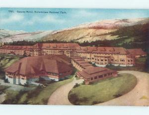 Unused Pre-1952 CANYON HOTEL Yellowstone National Park Wyoming WY Q5243