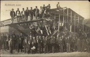 Eldorado El Dorado KS Carpenters Men Building Construction c1910 RPPC