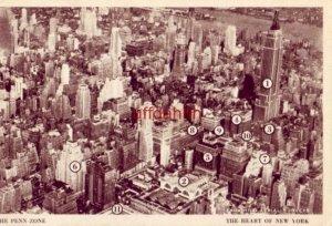 THE PENN ZONE NEW YORK CITY, NY Fairchild Aerial Surveys 1943 Places of Interest