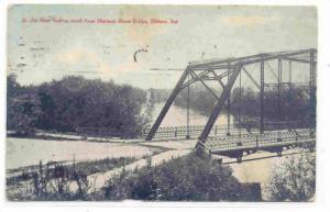 St. Joe River looking north from Sherman Street Bridge, Elkhart, Indiana, PU-...