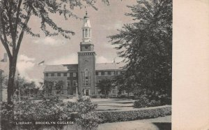 Library, Brooklyn College, Brooklyn, New York, Early Postcard, Unused