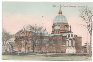 Montreal Canada Postcard St. James Cathedral PPC 1908