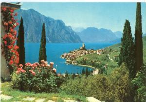 Italy, Malcesine, Lago di Garda, 1972 used Postcard