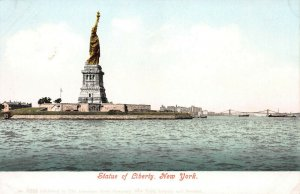 Statue of Liberty, New York City, Very Early Postcard, Unused