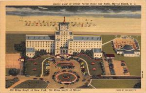 11738   SC  Myrtle Beach  1940's   Aerial View of Ocean Forest Hotel