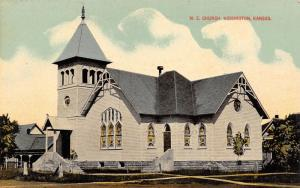 Hoisington Kansas~Methodist Episcopal ME Church~Passed it April 1912~Postcard