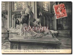 Old Postcard Dreux Chapelle Saint Louis Tomb of Louis Philippe and Queen Mari...