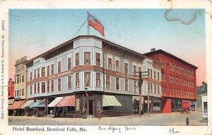 Hotel Rumford Fumford Falls, Maine, USA 1906 paper tear left edge, liquid sta...