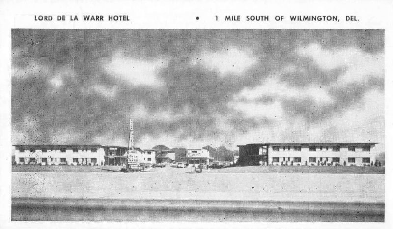 Wilmington Delaware Lord De La Warr Hotel Vintage Postcard AA36833