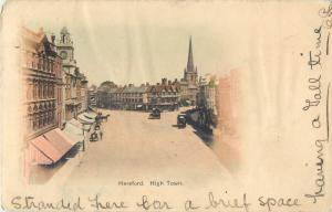 Hereford UK High Town Town Square Main Street Scene 1903