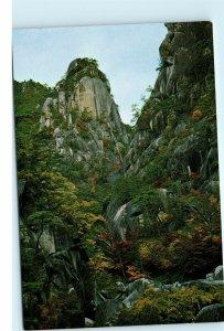 Japan Shosenkyo Gorge Kakuenbo Rock Kofu Vintage 4x6 Postcard D99