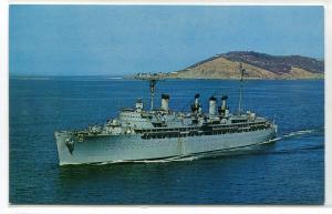 USS Jason AR-8 Repair Ship US Navy postcard