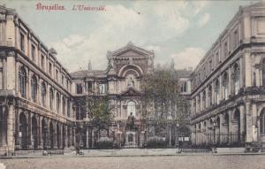 BRUXELLES, Belgium, 1900-1910's; L'Universite
