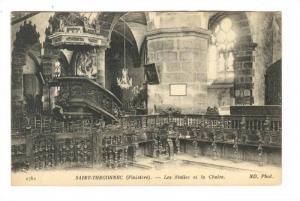 Interior, Les Stalles Et La Chaire, Saint-Thegonnec (Finistere), France, 1900...