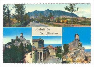 San Marino, PU-1963   4-view postcard