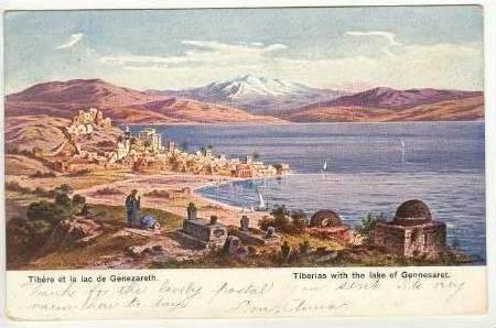 Tiberias with the lake of Gennesaret, PU-1907