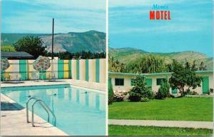 Mom's Motel Grand Forks BC British Columbia Multiview Unused Postcard D75