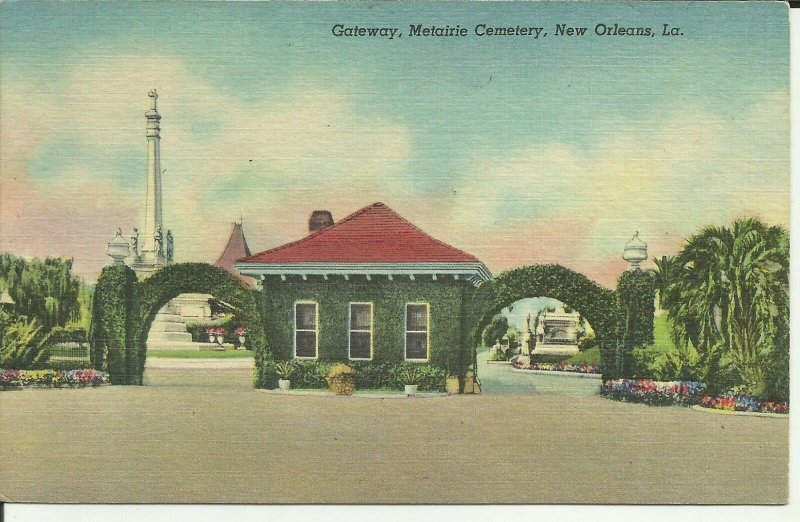 Gateway, Metairie Cemetery, New Orleans, La.
