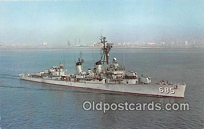 Vietnam Conflict Postcard Post Card USS Pucking DD685