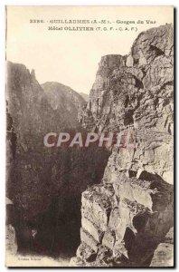 Old Postcard Guillaumes Gorges du Var Hotel Ollivier