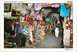 Modern Postcard Tunis souk etofffes
