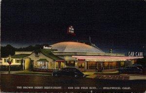California Hollywood The Brown Derby Restaurant Curteich