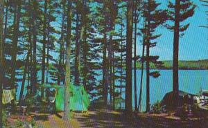 Campsite at Route 85 Camping Court, Crescent Lake, Raymond, Maine, 40-60´s