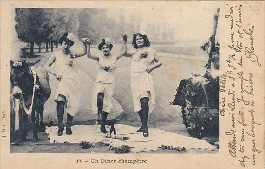 Three Ladies Dancing Un Diner champetre 1906