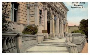 Rhode Island Providence , Public Library Entrance