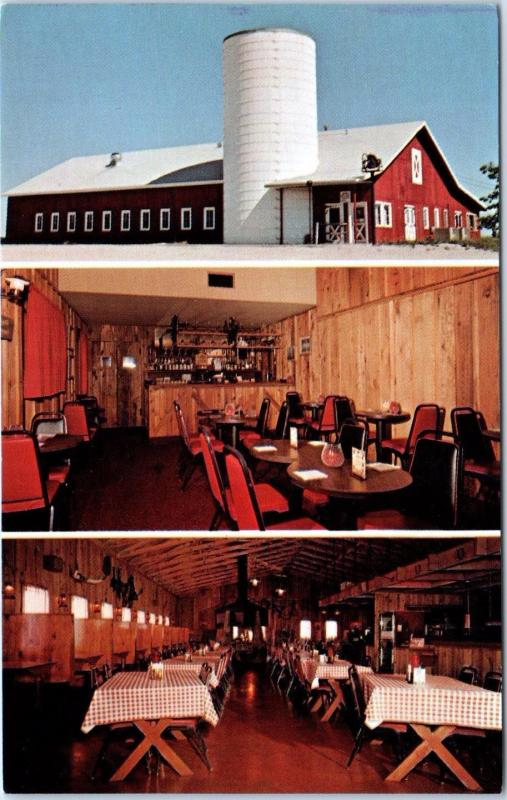 GREENFIELD, MO Missouri The RED BARN Restaurant c1960s Roadside