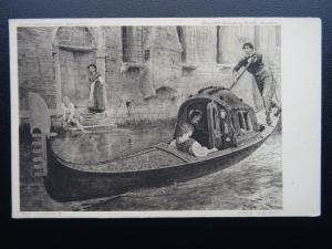 Italy THE GONDOLA artist Fred Walker - Old Postcard by Fine Publishing Co.