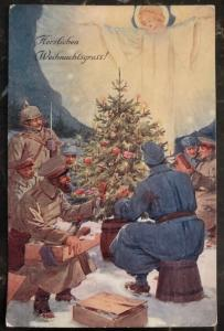 Mint Germany PPC Picture Postcard WW1 Merry Christmas In The Army