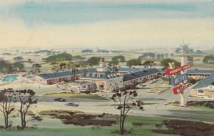 Aerial View, Albert Pick Motel, Alpine Road, Rockford, Illinois 1940-60s