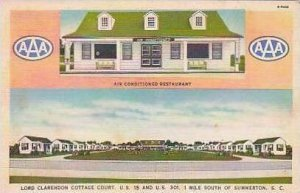 South Carolina Summerton Lord Claredon Cottage Court