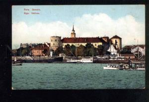 040628 LATVIA RIGA Schloss view Vintage color PC